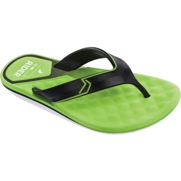 ライダー メンズ サンダル シューズ R Line Plus II Flip Flop White/Black/Green Synthetic