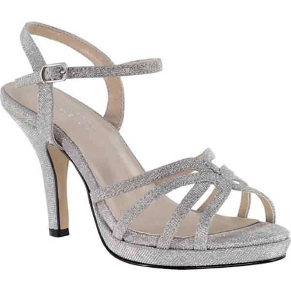 タッチアップ レディース サンダル シューズ Mae Heeled Strappy Sandal Silver Glitter Synthetic