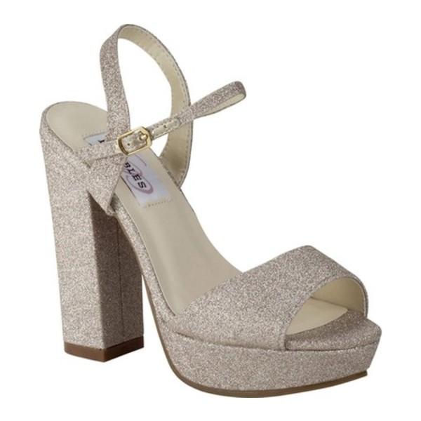 ダイエイブルズ レディース サンダル シューズ Whitta Platform Sandal Champagne Glitter