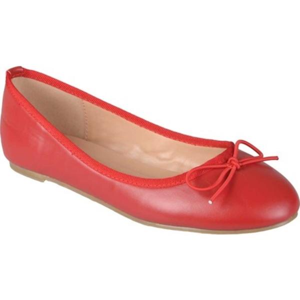 ジャーニーコレクション レディース サンダル シューズ Vika2 Ballet Flat Red Faux Leather