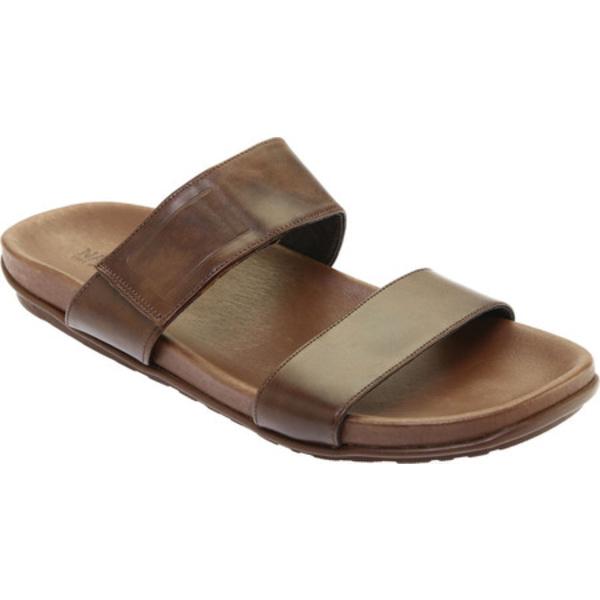ナオト メンズ サンダル シューズ Maldive Hook and Loop Slide Pecan Brown Leather