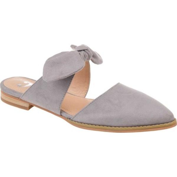 ジャーニーコレクション レディース サンダル シューズ Telulah Pointed Toe Mule Grey Microsuede Fabric