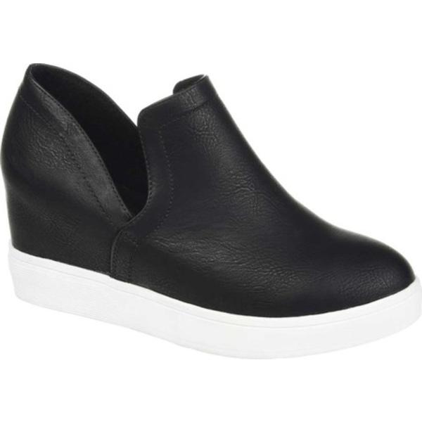 ジャーニーコレクション レディース スニーカー シューズ Cardi Slip On Sneaker Black Faux Leather
