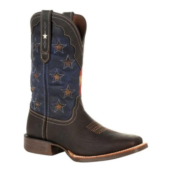 ヂュランゴ メンズ ブーツ&レインブーツ シューズ DDB0303 Rebel Pro Vintage Flag Western Boot Dark Chestnut/Vintage Flag Full Grain Leather