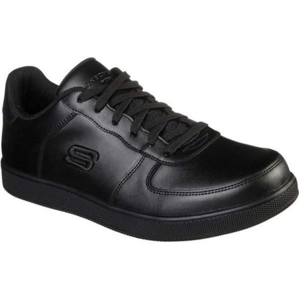スケッチャーズ メンズ ブーツ&レインブーツ シューズ Work Vibsie Vimerny Slip Resistant Sneaker Black