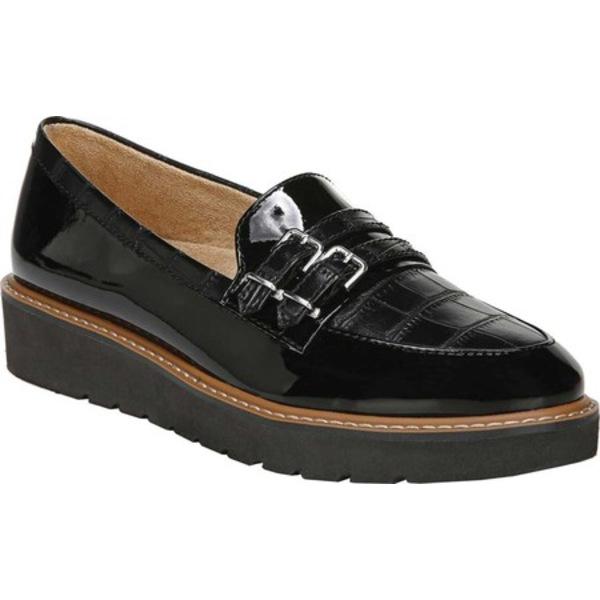 ナチュライザー レディース スリッポン・ローファー シューズ Eiffel Moc Toe Loafer Black/Croco Synthetic Leather/Patent