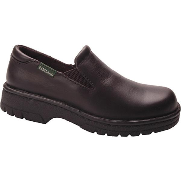 イーストランド レディース スニーカー シューズ Newport Slip On Black Leather
