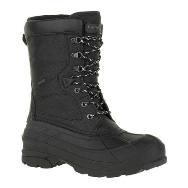 カミック メンズ ブーツ&レインブーツ シューズ NationPro Waterproof Boot Black Leather