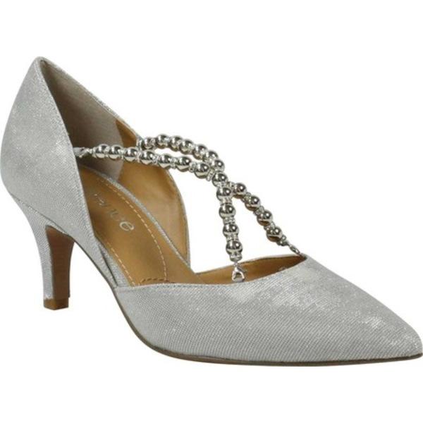 ジェイレニー レディース オックスフォード シューズ Zayna Pointed Toe Pump Silver Glitter Fabric