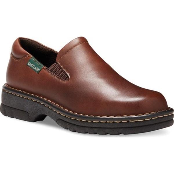イーストランド レディース スニーカー シューズ Newport Slip On Brown Leather