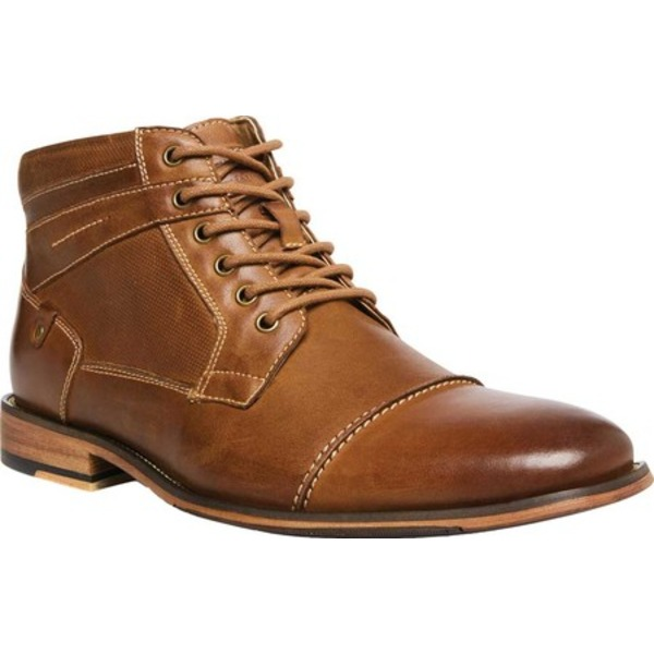 スティーブ マデン メンズ ブーツ&レインブーツ シューズ Jotter Cap Toe Ankle Boot Dark Tan Rich Leather