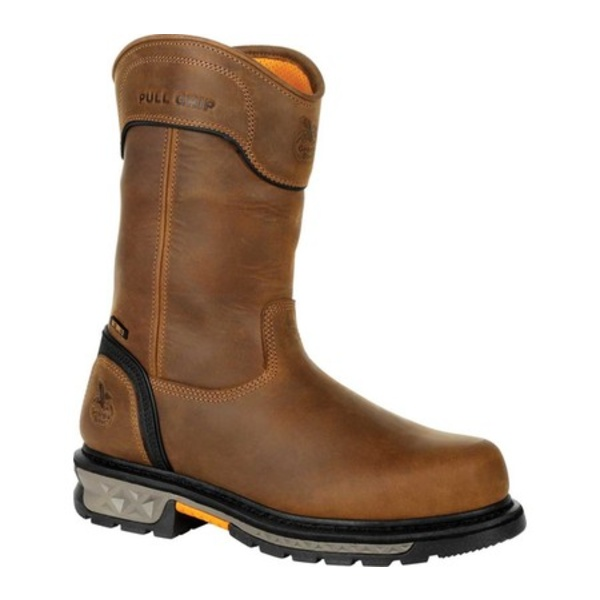 ジョージブーツ メンズ ブーツ&レインブーツ シューズ GB00394 Carbo-Tec LTX WP CT Pull On Work Boot Black/Brown Full Grain Leather