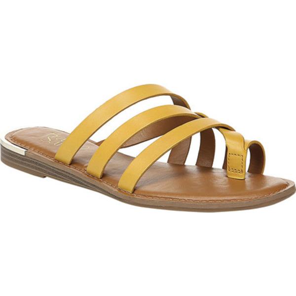 フランコサルト レディース サンダル シューズ Goddess Strappy Toe Loop Sandal Summer Yellow Leather