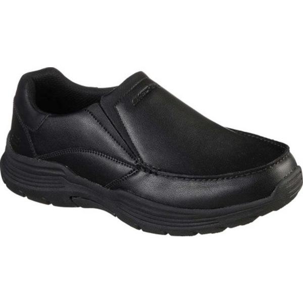 スケッチャーズ メンズ ブーツ&レインブーツ シューズ Relaxed Fit Expended Helano Slip-On Black/Black