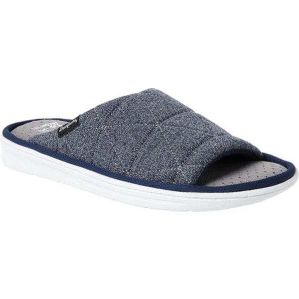 ディアフォームズ メンズ サンダル シューズ Heathered Knit Quilted Slide Slipper Navy Blazer Polyester