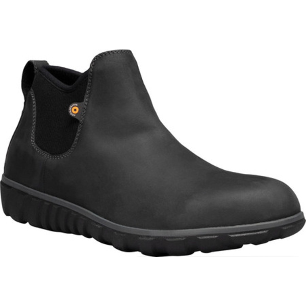 ボグス メンズ ブーツ&レインブーツ シューズ Classic Casual Chelsea Waterproof Boot Black Leather