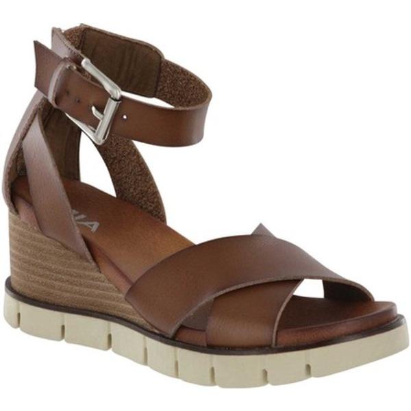 ミア レディース サンダル シューズ Lauri Sneaker Bottom Wedge Sandal Cognac Vegan Leather
