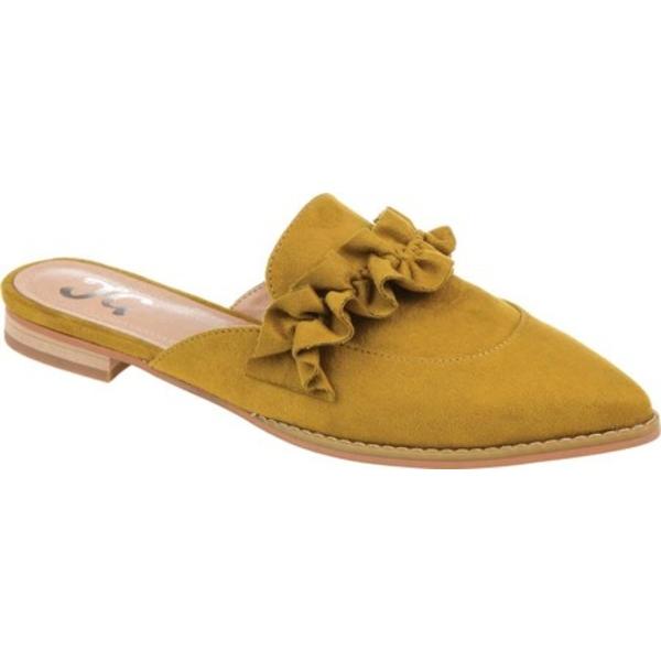 ジャーニーコレクション レディース サンダル シューズ Kessie Pointed Toe Mule Chartreuse Microsuede Fabric