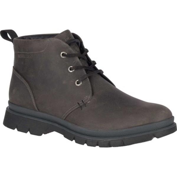 トップサイダー メンズ ブーツ&レインブーツ シューズ Watertown Chukka Boot Grey Leather