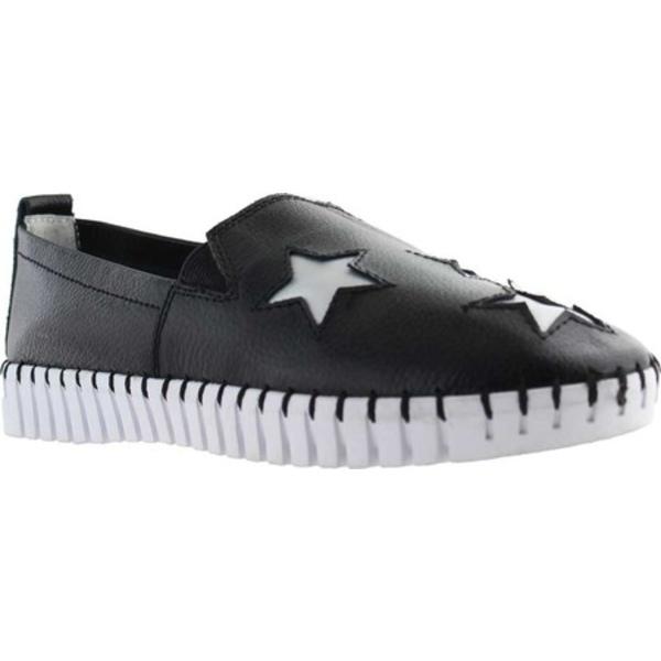 ビーニーメブ レディース サンダル シューズ TW37 Twin Gore Slip On Black Leather
