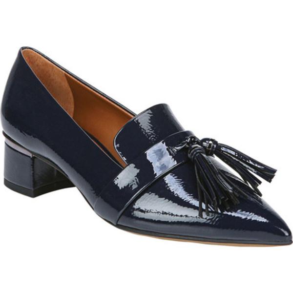 フランコサルト レディース サンダル シューズ Gila Pointed Toe Kiltie Loafer Midnight Synthetic Patent