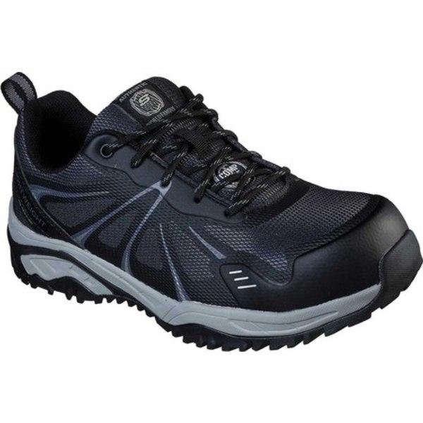 スケッチャーズ メンズ ブーツ&レインブーツ シューズ Work Azbar Comp Toe Sneaker Black/Gray
