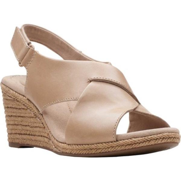 クラークス レディース サンダル シューズ Lafley Alaine Wedge Sandal Sand Full Grain Leather