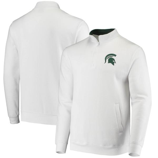 コロシアム メンズ ジャケット&ブルゾン アウター Michigan State Spartans Colosseum Tortugas Logo QuarterZip Jacket Green