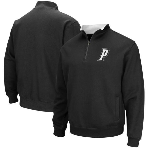 コロシアム メンズ ジャケット&ブルゾン アウター Providence Friars Colosseum Tortugas Logo QuarterZip Pullover Jacket Black