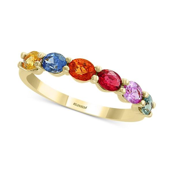 <title>エフィー コレクション 推奨 レディース アクセサリー リング Multi Sapphire 全商品無料サイズ交換 EFFY® Multi-Sapphire 1-3 8 ct. t.w Ring in 14k Gold</title>