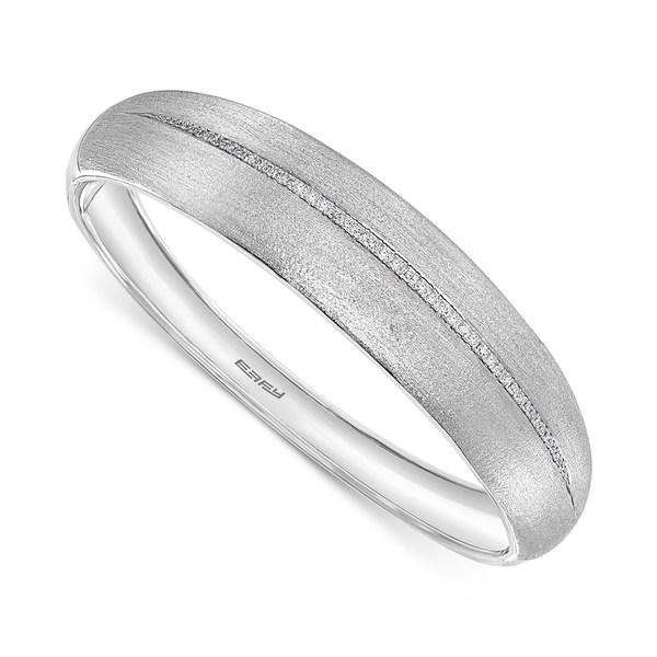 【SALE】 エフィー コレクション t.w.) レディース ブレスレット・バングル in・アンクレット Silver アクセサリー EFFY® Diamond Satin Finish Bangle Bracelet (1/3 ct. t.w.) in Sterling Silver Silver Silver, ファランセビス:94c35f10 --- superbirkin.com