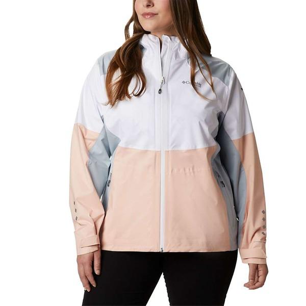 欲しいの コロンビア Titan Women's レディース ジャケット&ブルゾン アウター Columbia Women's Grey Titan Pass 2.5L Shell Jacket White/peach Cloud/cirrus Grey, マットウシ:156d8129 --- kventurepartners.sakura.ne.jp