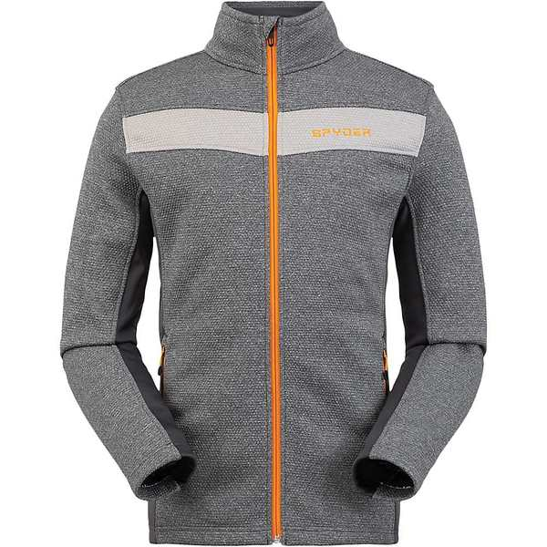 Men's Fleece Ebony Full アウター メンズ Zip Spyder ジャケット&ブルゾン スパイダー Encore Jacket