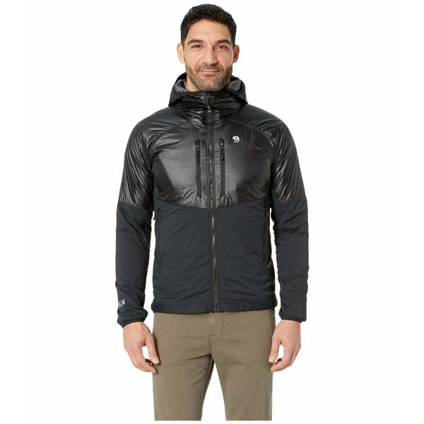 マウンテンハードウェア メンズ コート アウター Aosta Hooded Jacket Black
