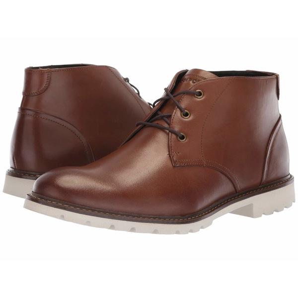 ロックポート メンズ ブーツ&レインブーツ シューズ Sharp and Ready Chukka Brown Leather