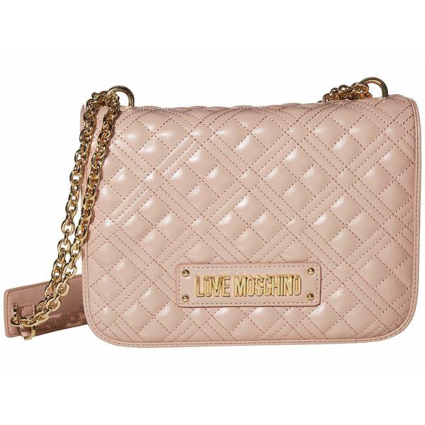 ラブ モスキーノ レディース ハンドバッグ バッグ Quilted Shoulder Bag Pink