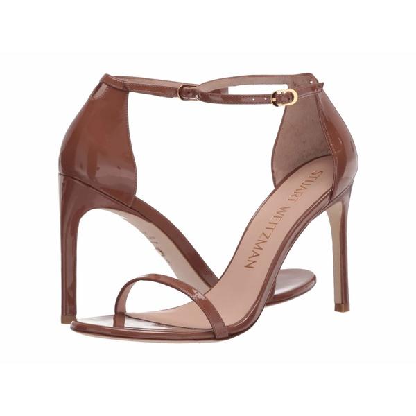 スチュアート ワイツマン レディース ヒール シューズ Nudistsong Ankle Strap Sandal Cappuccino Patent