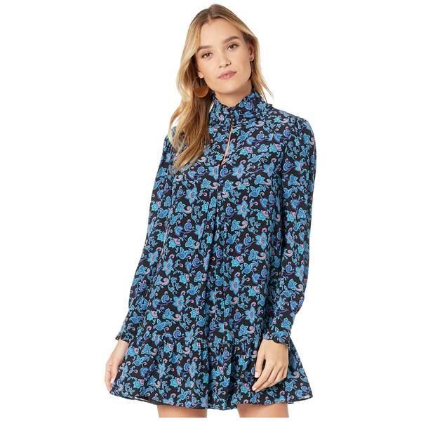 ナネットレポー レディース ワンピース トップス Paisley Silk Pintuck Dress Turquoise Multi
