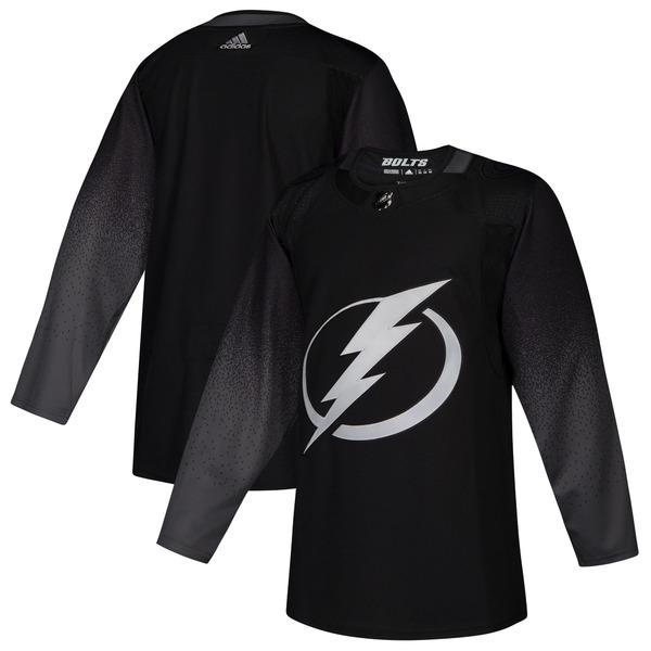 アディダス メンズ ユニフォーム トップス Tampa Bay Lightning adidas Alternate Authentic Jersey Black