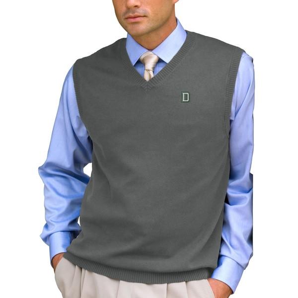 ビンテージアパレル メンズ ジャケット&ブルゾン アウター Dartmouth Big Green Milano Knit Sweater Vest Heathered Gray