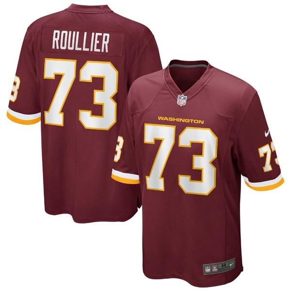 ナイキ メンズ ユニフォーム トップス Chase Roullier Washington Football Team Nike Game Player Jersey Burgundy
