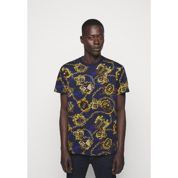 ベルサーチ アウトレット メンズ トップス Tシャツ multi dtaq002d Print 有名な - 全商品無料サイズ交換 T-shirt