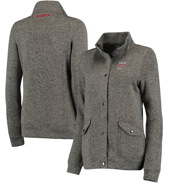 コロシアム レディース ジャケット&ブルゾン アウター Wisconsin Badgers Colosseum Women's Flyaway FullZip Jacket Charcoal