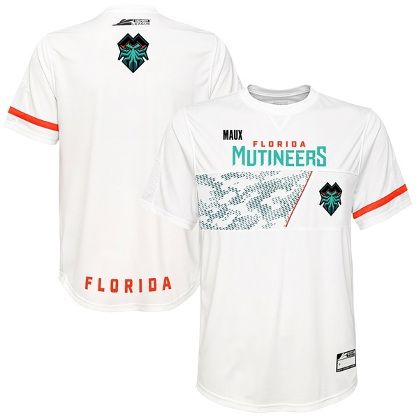 アウタースタッフ メンズ ユニフォーム トップス Maux Florida Mutineers Home Jersey White