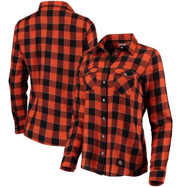 リーバイス レディース シャツ トップス San Francisco Giants Levi's Women's Western FullSnap Shirt Orange
