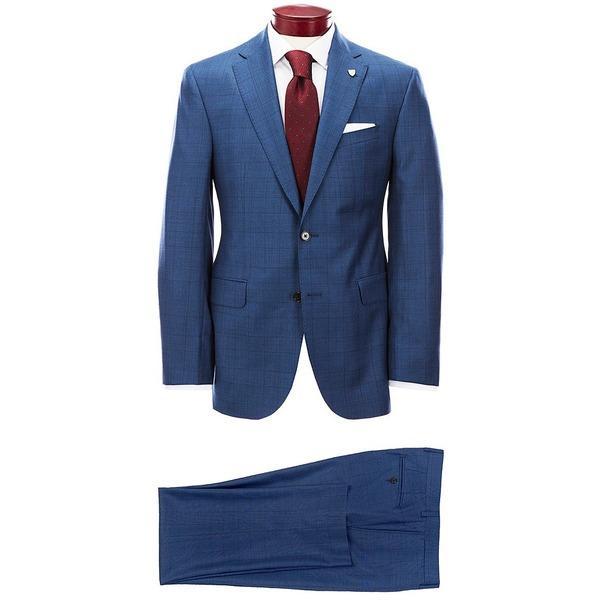 クレミュ メンズ アウター ジャケット ブルゾン 即出荷 高額売筋 Blue 全商品無料サイズ交換 Wool Large Modern Suit Fit Plaid