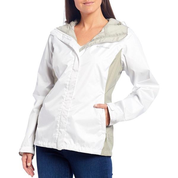 コロンビア 最安値挑戦 レディース アウター ジャケット ブルゾン White Flint Waterproof Hooded 値下げ Jacket 全商品無料サイズ交換 Grey Arcadia
