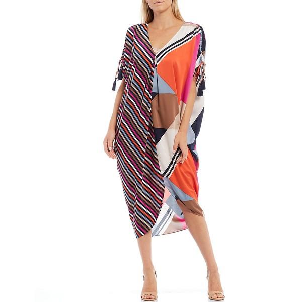 【売れ筋】 トリーナターク レディース ワンピース トップス Crawford Mix Print V-Neck Caftan Midi Dress Multi, ジュエリーロイヤル b9448a70