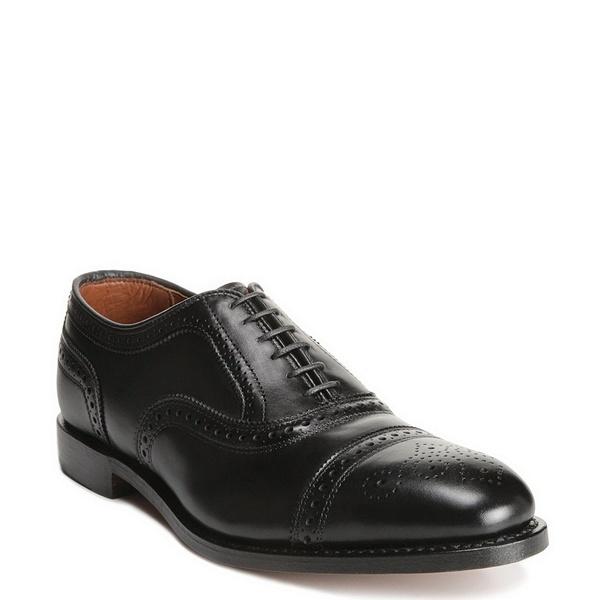 アレンエドモンズ メンズ シューズ ドレスシューズ 全品送料無料 100%品質保証 Black 全商品無料サイズ交換 Dress Strand Cap-Toe Oxfords Leather