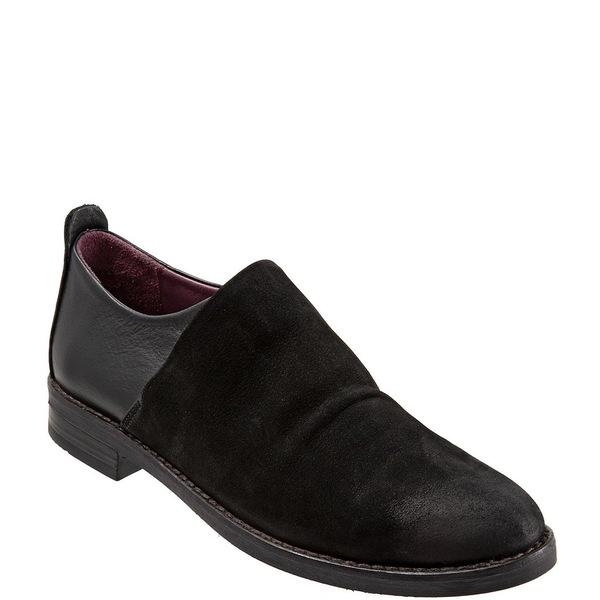 Passion ブエノ Slip-On レディース Leather Nubuck シューズ Nubuck Black Loafers Heel サンダル Block